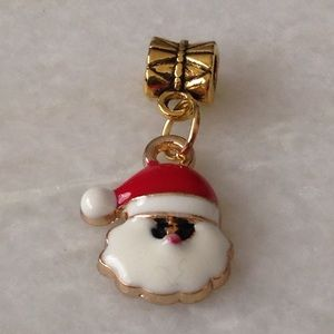 Jewelry - Santa Claus Charm with Bail Bead
